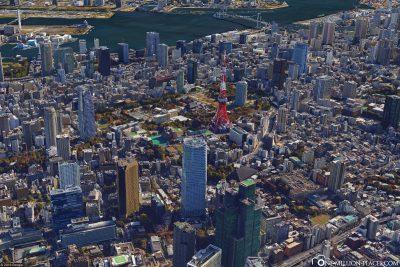 Der Tokyo Tower in Google Earth