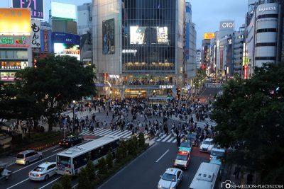 The All-Walking Crossing in Shibuya