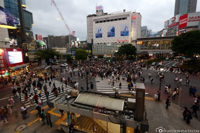 The pedestrian crossing in Shibuya