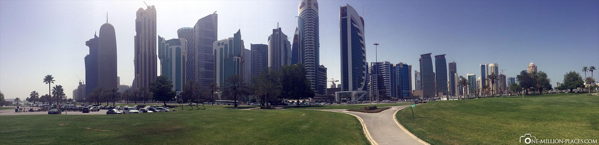 Skyline, Doha, Katar, Stopover, Sightseeing, Reisebericht