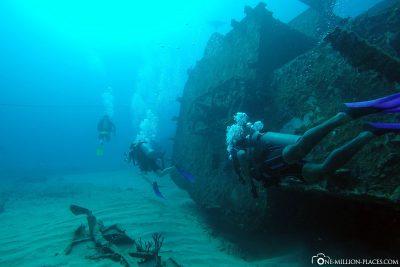 The shipwreck C-58 General Anaya