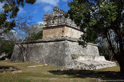 The ruins of the Mayan site