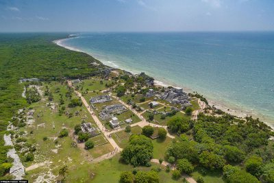 The Mayan site from a bird's eye view
