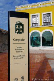 Die Stadt Capeche am Golf von Mexiko