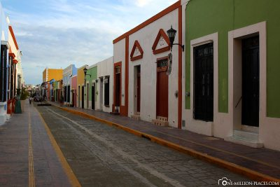 Die hübschen bunten Gassen in Campeche