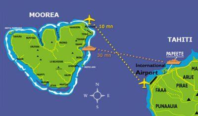 Die Verbindungen von Tahiti nach Moorea