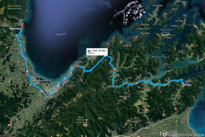 The route from Picton to Kaiteriteri