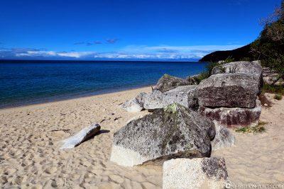 The beach of Tonga Quarry