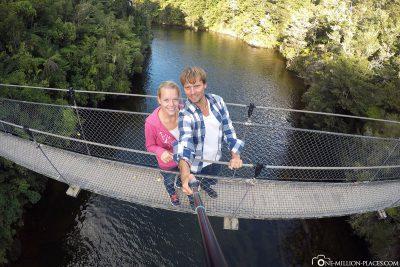 The Falls River Swing Bridge