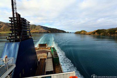 Fahrt durch den Queen Charlotte Sound