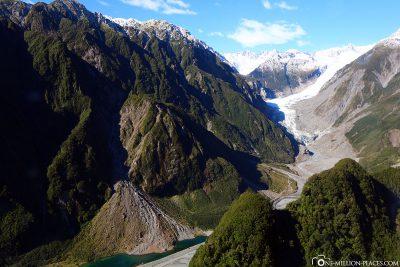 View of the Fox Glacier