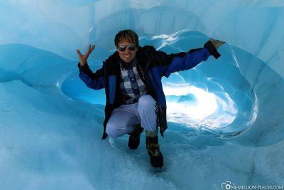 An ice tunnel