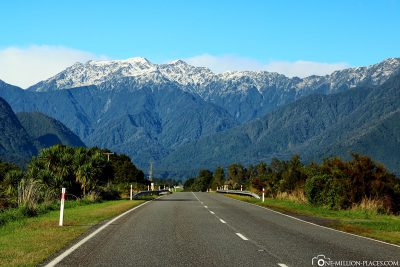 Drive through the New Zealand Alps