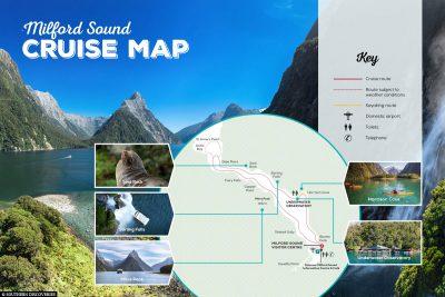 Route through Milford Sound