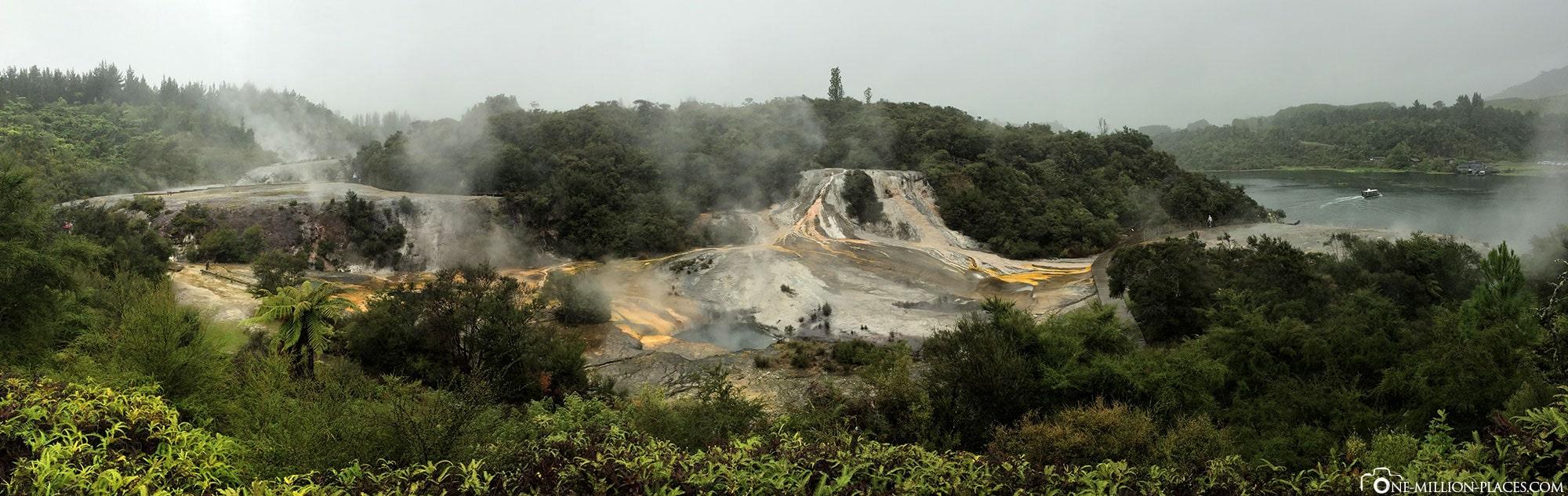 Panorama, Orakei Korako, New Zealand, Geothermal Region, On Your Own, Travelreport