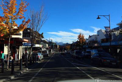 The main street in Queenstown