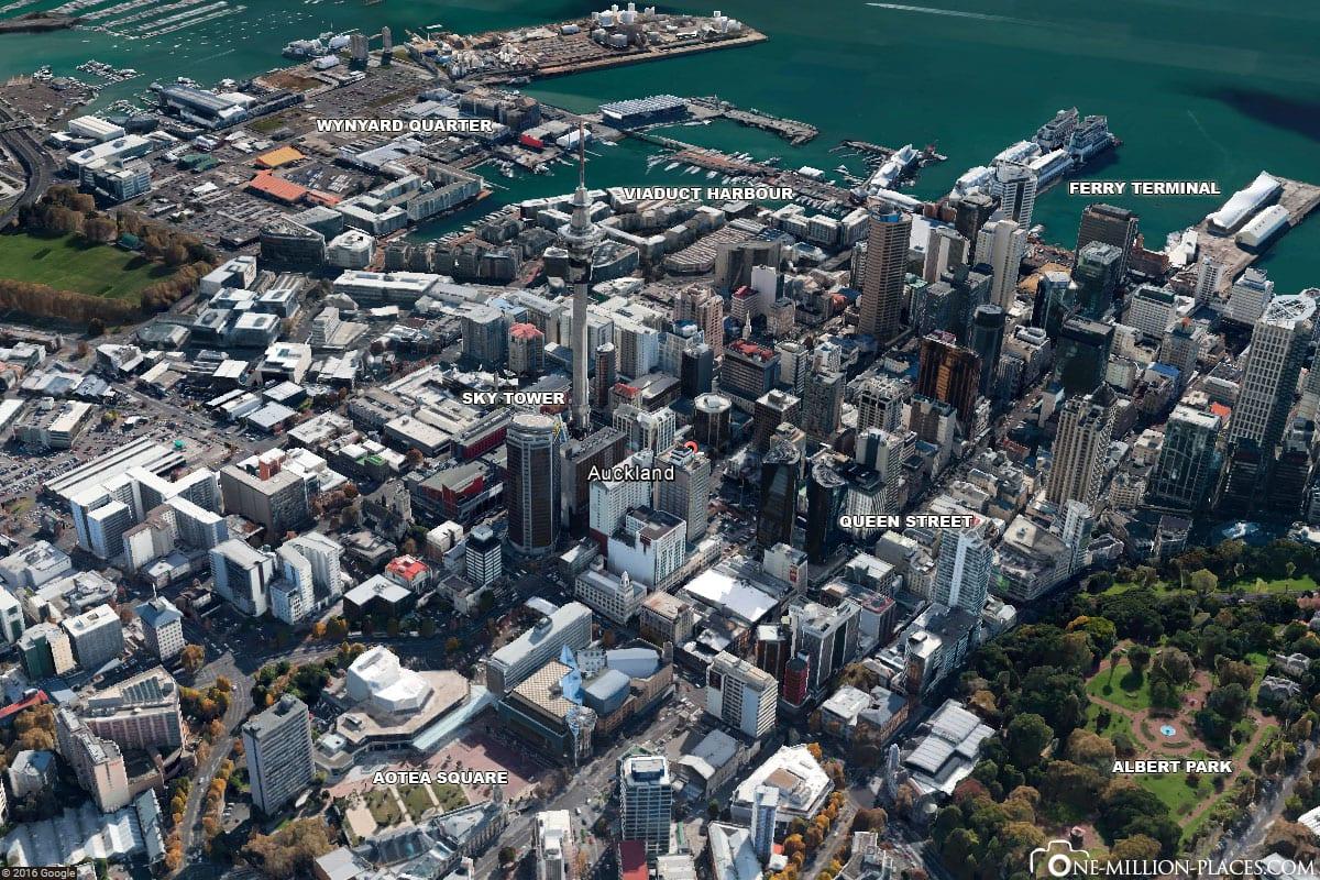 Innenstadt von Auckland, Sehenswürdigkeiten, Fotospots, Neuseeland, Auf eigene Faust, Reisebericht