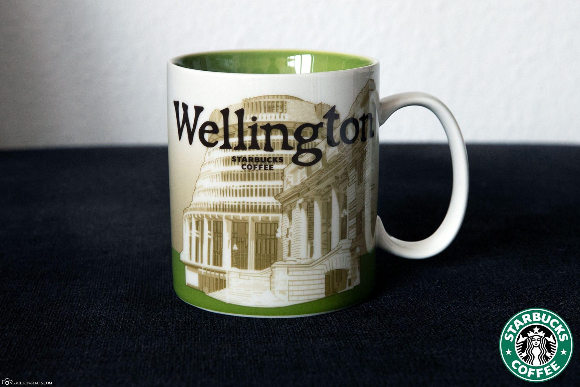 Wellington, Starbucks Tasse, Global Icon Serie, City Mugs, Sammlung, Neuseeland, Reisebericht