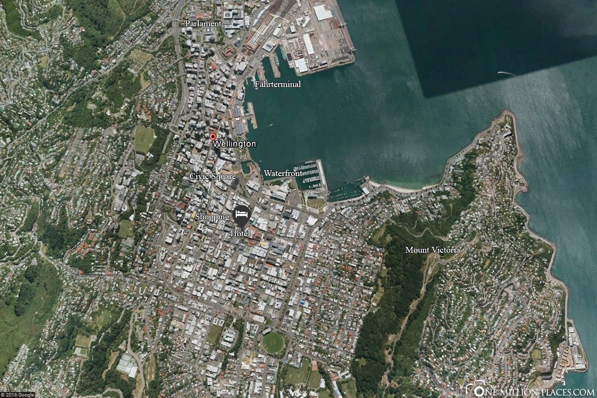 Karte, Wellington, Neuseeland, Nordinsel, Auf eigene Faust, Reisebericht