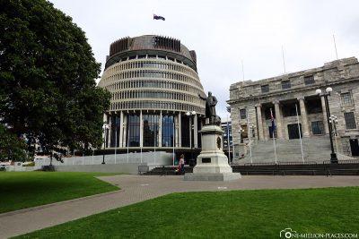 Das neuseeländische Parlamentsgebäude