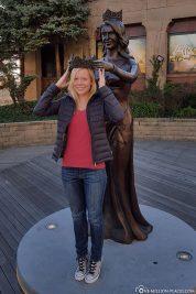 Statue der Miss America Wahl