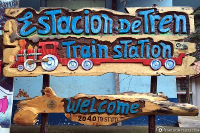 The railway station in Aguas Calientes