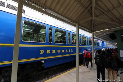 The train from Perurail to Machu Picchu