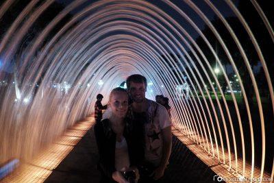 Water tunnel in the Parque de las Reservas