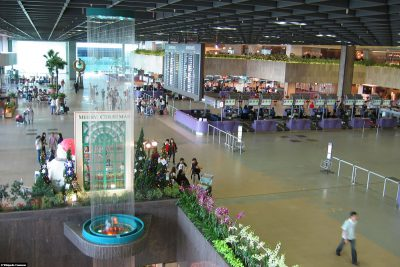 The airport in Singapore