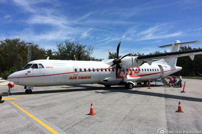 Das Flugzeug von Air Tahiti