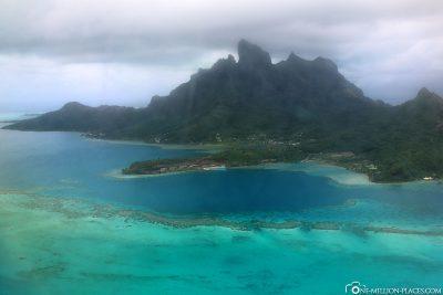 Der Blick auf die Insel Bora Bora