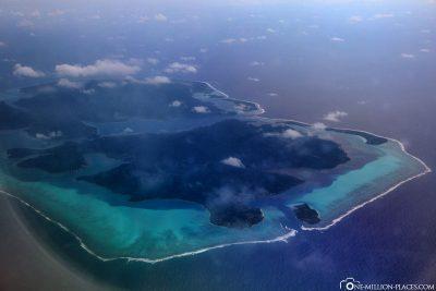 Die Inseln Raiatea und Tahaa