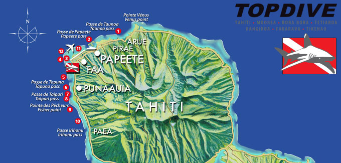 Diving Spots, Tahiti, Diving, Diving School Topdive, French Polynesia, South Seas, Travel Report