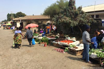Kleine Marktstände in Arusha
