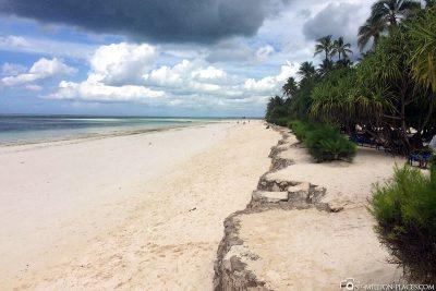The beach on the east coast of Sansibar
