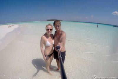 Eine schöne Sandbank