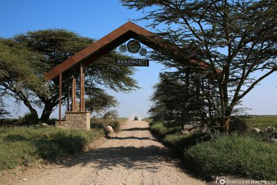 The entrance gate to the Serengeti