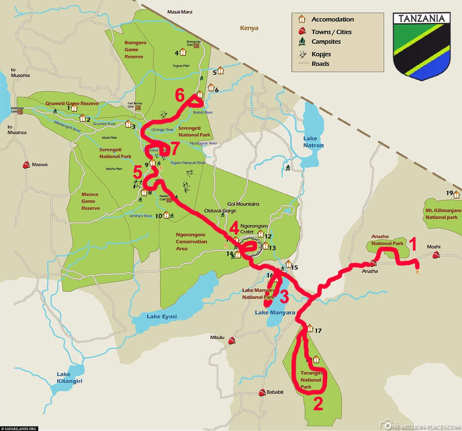 Route, Plan, Paradise, Tour, 7 Days, Tanzania, Travelreport