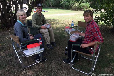 Lunch at the camp