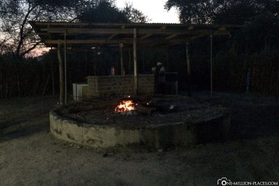 The cooking place in the camp