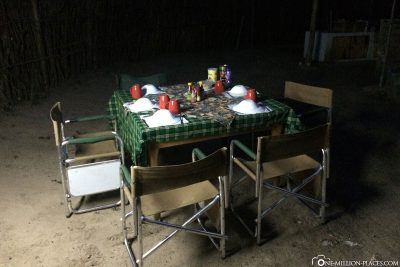 The table is covered