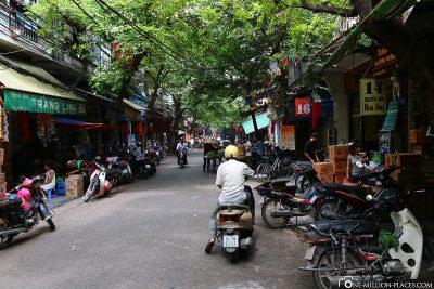 The streets of Hanoi's Old Quarter