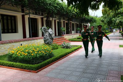 Soldiers patrol the streets