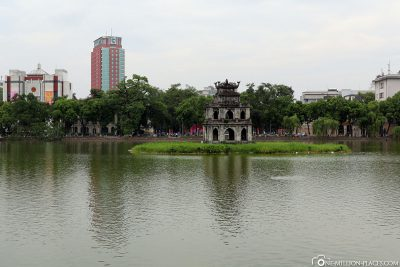 The Hoan Kiem Lake with the Turtle Tower