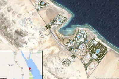 Die Lage des Hotels Jaz Samaya