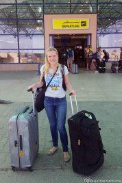 Ankunft am Flughafen in Marsa Alam