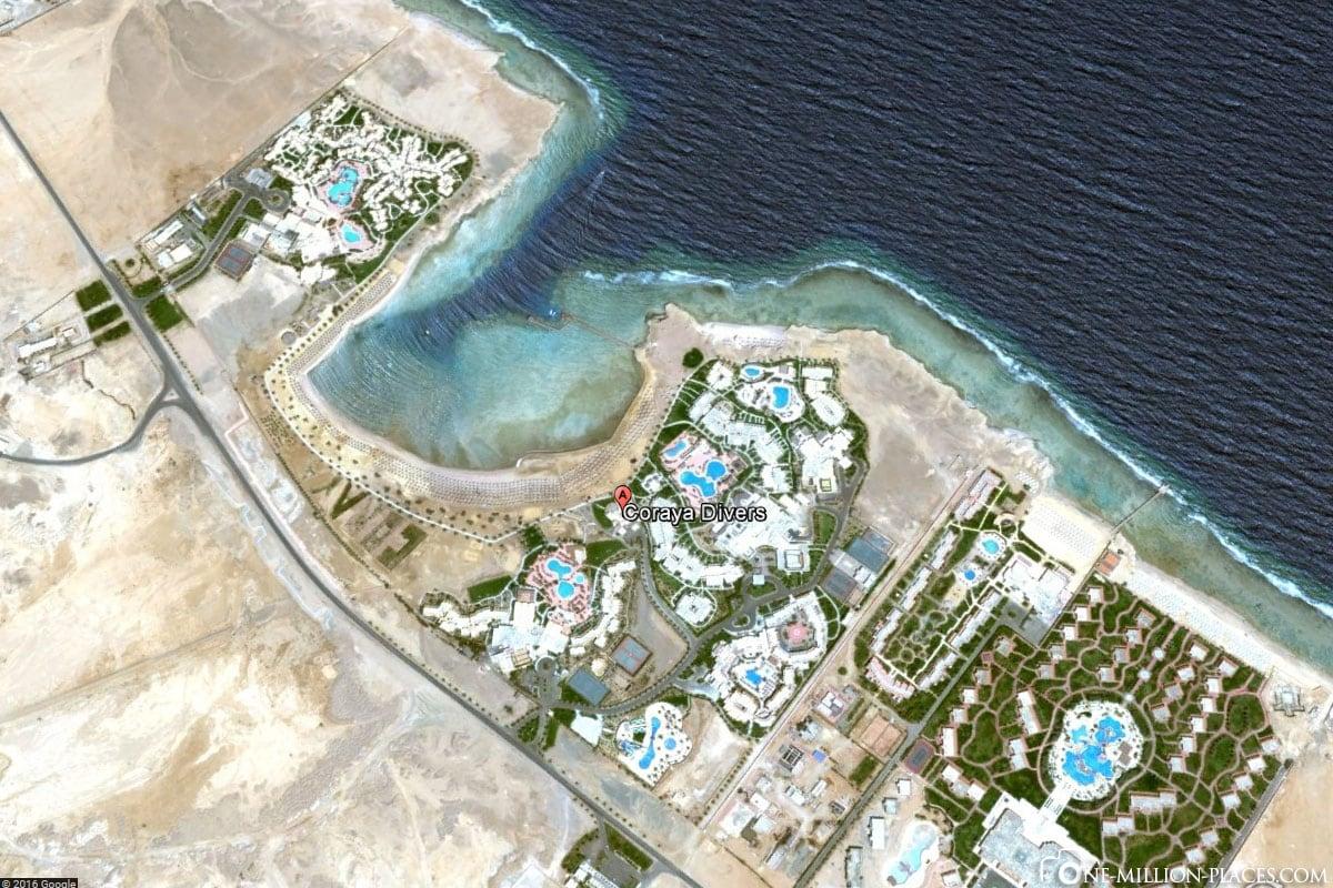 Map, Coryaya Divers, Diving School, Marsa Alam, Egypt, Travelreport