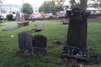 The old graves in the cemetery