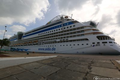 The AIDAdiva in Aruba