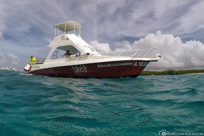 Das Tauchschiff von Jads Aruba
